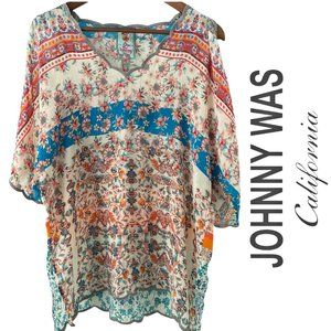 Johnny Was Boho floral Tunic Small